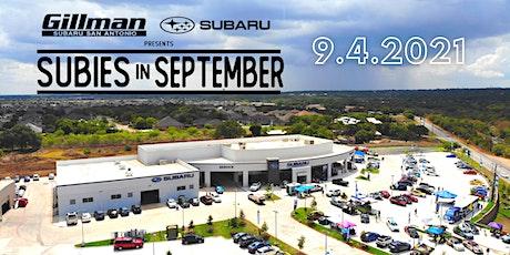 2nd Annual Subies In September at Gillman Subaru San Antonio tickets