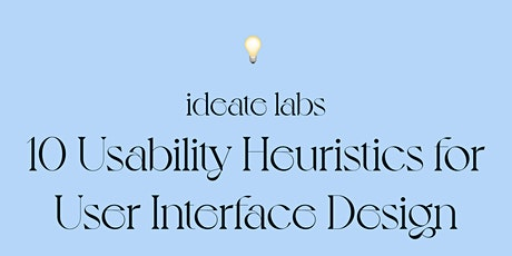 10 Usability Heuristics for User Interface Design Tickets