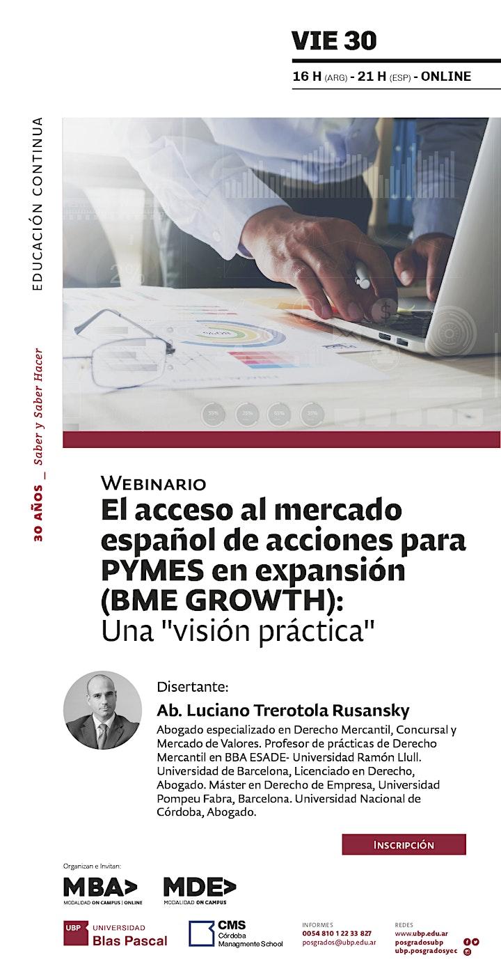 Imagen de Webinario> El acceso al mercado español de acciones para PYMES