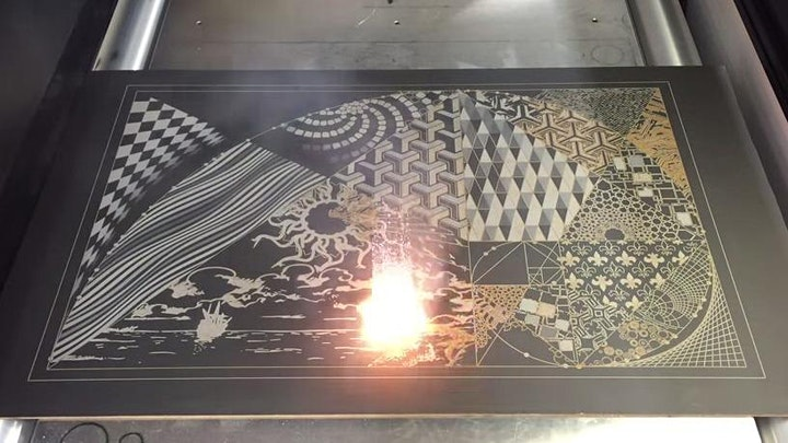 Gravure galvo laser: initiation image
