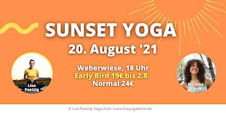 Sunset Yoga - Park auf der Weberwiese - mit Mantra Meditation Tickets