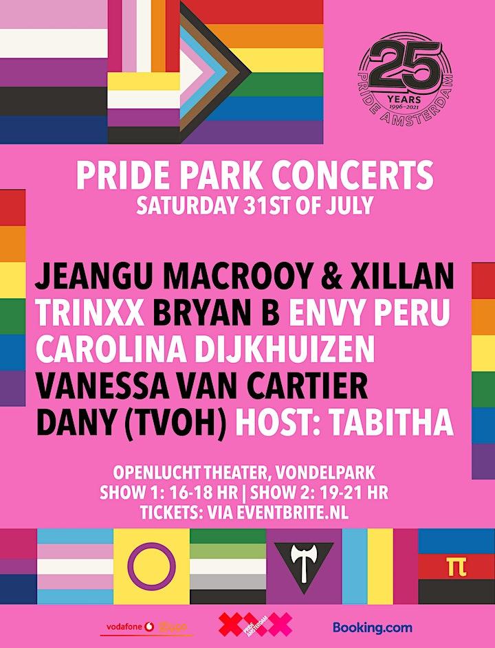 Afbeelding van Pride Park Concerten | Sessie 2 : 19:00 - 21:00 (uitverkocht)