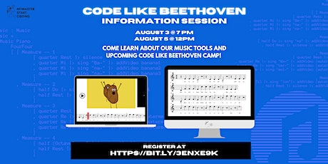 McMaster Start Coding - 'Code Like Beethoven' Camp Information Session tickets