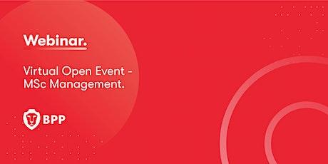 Virtual Open Event – MSc Management programmes tickets
