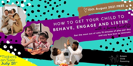 How to get your child to behave, engage and listen with a funny twist tickets