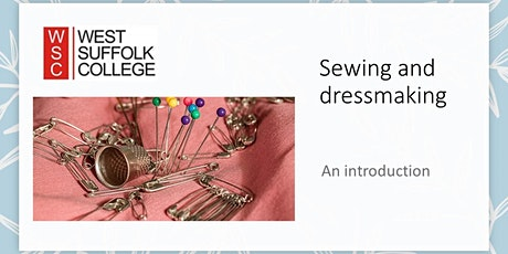 An introduction to dressmaking and sewing (Sat) tickets