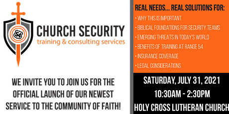 FREE Range 54 Church Security Training & Consulting Event tickets