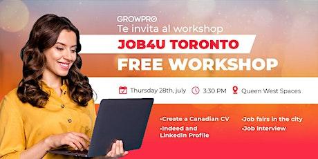 JOB4U-GrowPro Toronto tickets