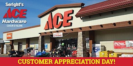 Seright's Ace Hardware Customer Appreciation Day 2021 - CDA tickets