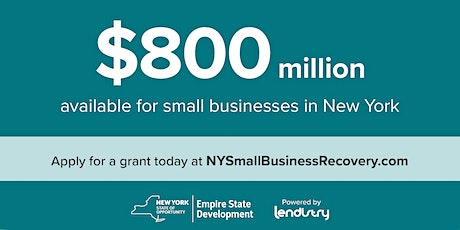 Grant for NYS Small Businesses! Online Informational Workshop tickets