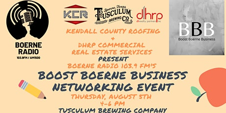 Boost Boerne Business Networking Event - August 2021 tickets