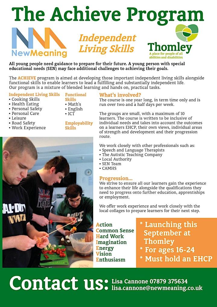 The Clare Foundation Spotlight: Thomley's Achieve Life Skills Programme image