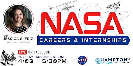 NASA Careers & Internships with  Jessica S. Friz, Aerospace Engineer tickets