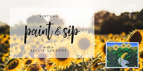 Virtual Paint & Sip - Sunflower Summer tickets