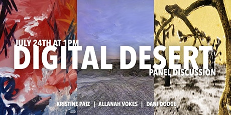 The Digital Desert   Artist Talk tickets