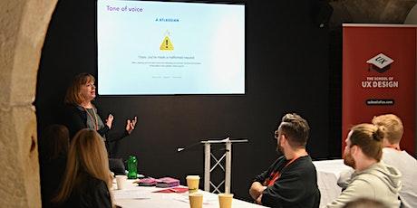 Content Design & UX Writing workshop at The School of UX biglietti