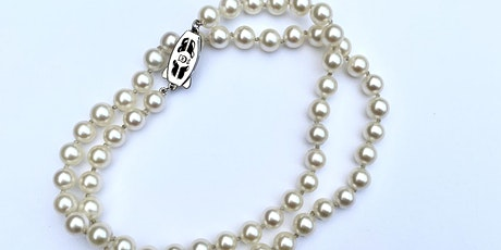 Hand Knotting Pearl Necklace with Sarah Sindler of KING RELD tickets