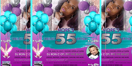 HOPE FLOOD'S FIFTY FIVE & FABULOUS BIRTHDAY PARTY tickets