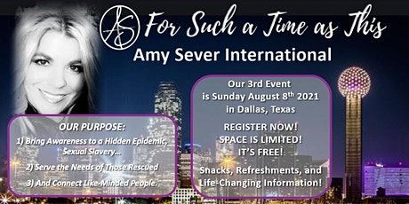 """Our THIRD Dallas Amy Sever International  """"For Such A Time As This"""" tickets"""