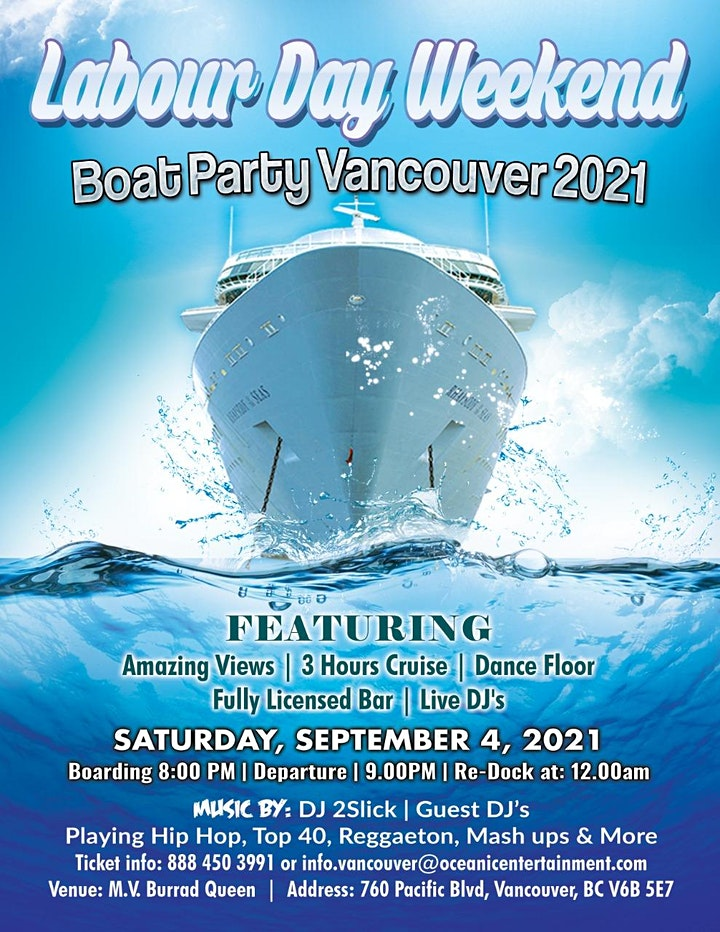 BC Day Whiteout Boat Party Vancouver 2021 image