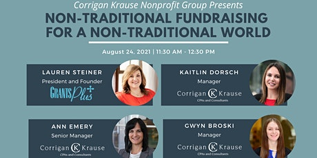 Non-Traditional Fundraising for a Non-Traditional World tickets