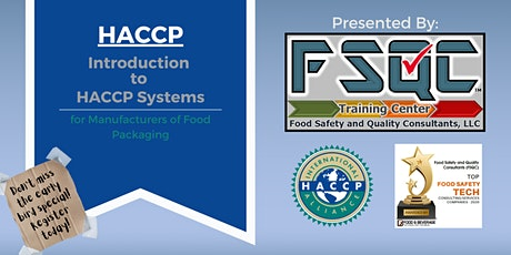 Introduction to HACCP Systems tickets