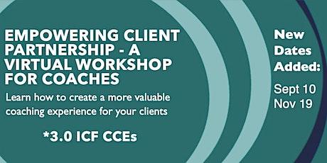 Empowering Client Partnership Workshop tickets