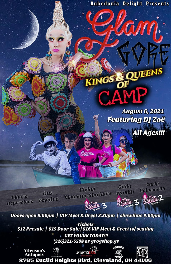 """GlamGore: """"Queens & Kings of Camp"""" image"""