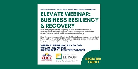 CHCC Elevate Webinar: Business Resiliency & Recovery tickets