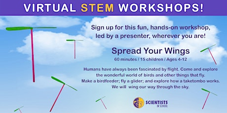 Spread Your Wings with Scientists in School (Evening Session) tickets