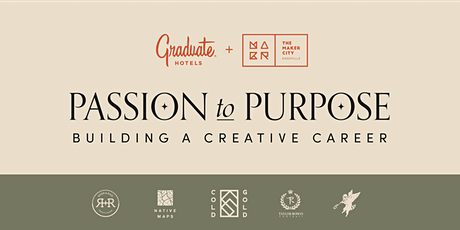 Passion to Purpose: Building a Creative Career tickets