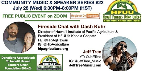 Fireside chat with Dash Kuhr with Music by Jeff Tree tickets