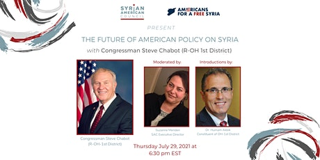The Future of American Policy on Syria featuring Rep. Steve Chabot tickets