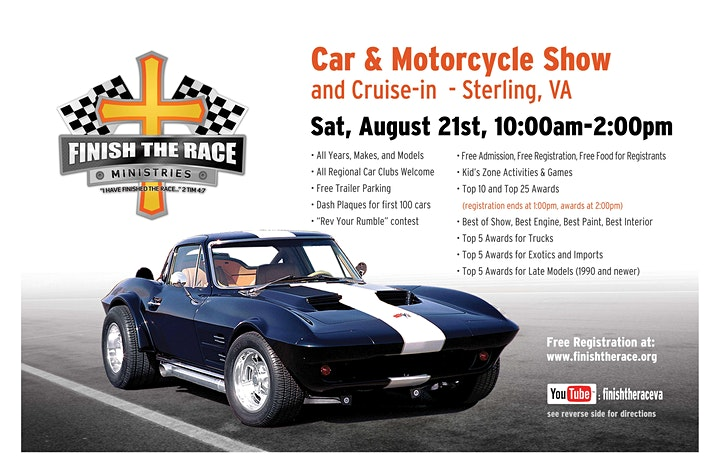 2021 Finish the Race Ministries Summer Car & Motorcycle Show image