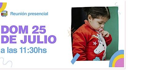 Reunión Presencial en Caudal de Vida -KIDS- Domingo 25/07 11:30 hs. entradas