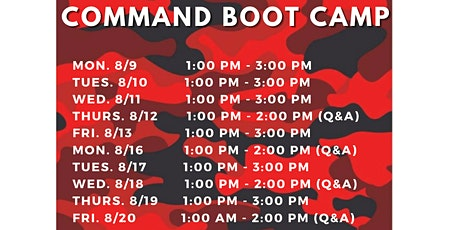Command Bootcamp - August tickets