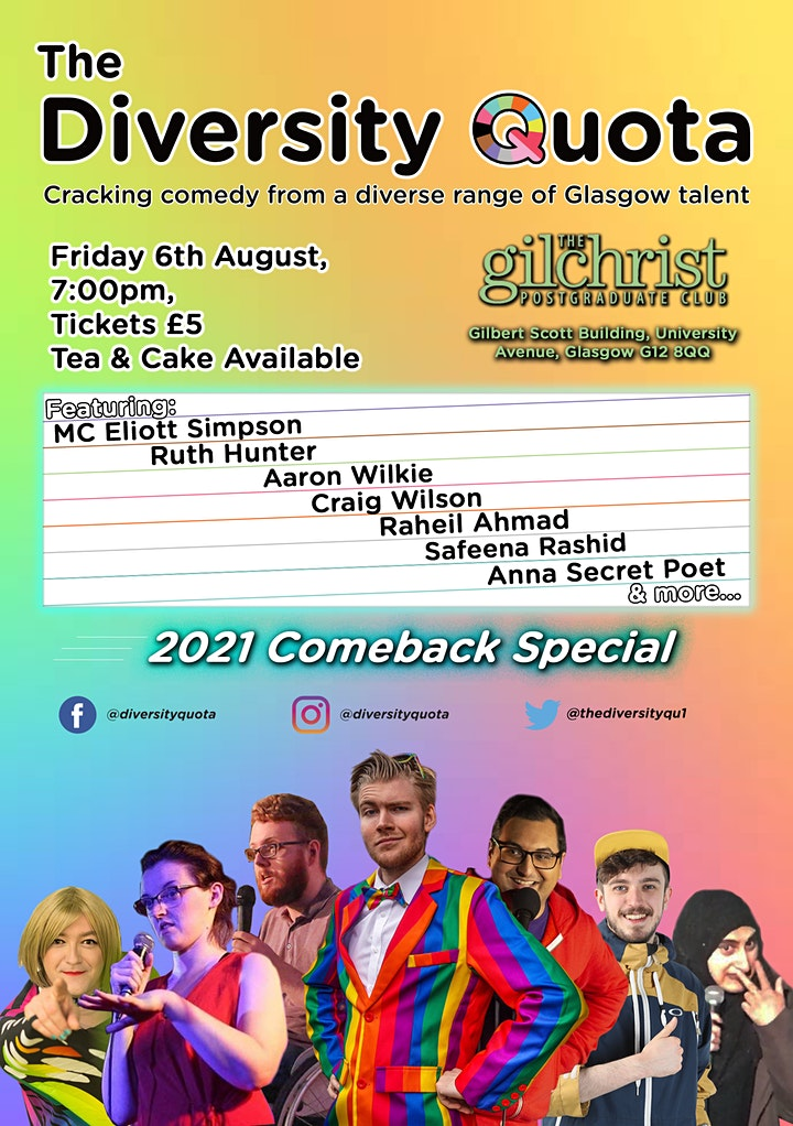 The Diversity Quota Comedy Night - 2021 Comeback Special image