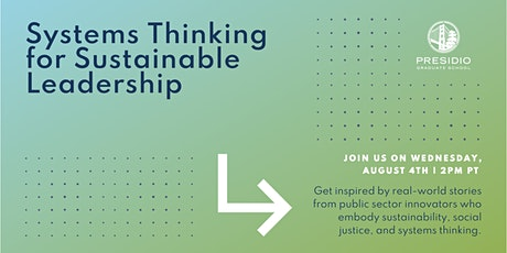 Systems Thinking for Sustainable Leadership tickets