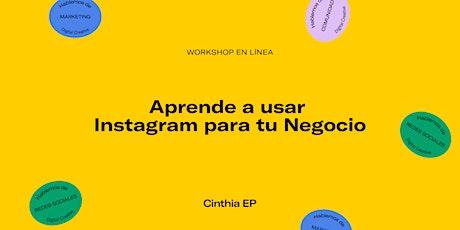 Workshop en línea: Aprende a usar Instagram para tu Negocio entradas