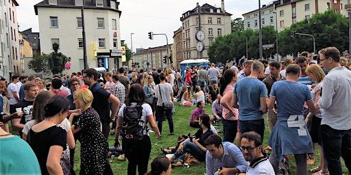 Frankfurter Nightwalk zur Single-Party im Südbahnhof