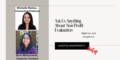 Ask Us Anything About Non Profit Evaluation: tickets