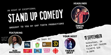 Stand Up Comedy with Headliner Simon King featuring Alex Mackenzie! tickets