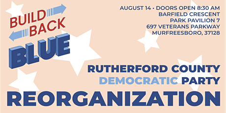 Rutherford County Democratic Party Leadership Elections: Reorg 2021 tickets