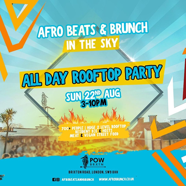 Afrobeats n Brunch: All Day Rooftop Party image