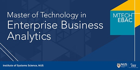 NUS Master in Enterprise Business Analytics Online Info Session tickets