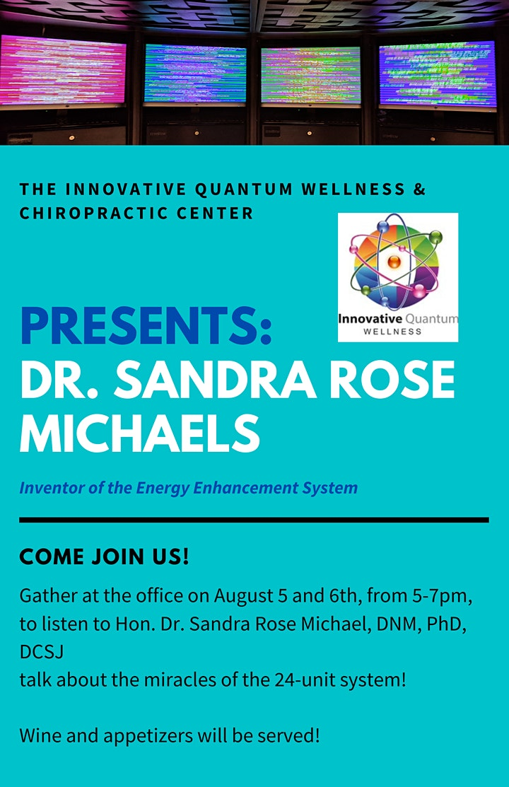 Learn with Dr. Sandra Rose Michael, Inventor of BioScalar EE System image