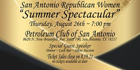 "San Antonio Republican Women ""Summer Spectacular"" tickets"