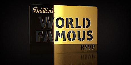 Bunton's World Famous Guest List tickets
