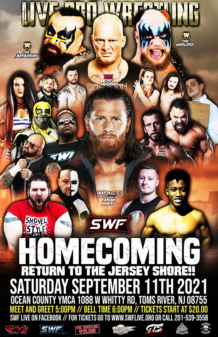 """SWF Wrestling Live presents """"Homecoming """" image"""