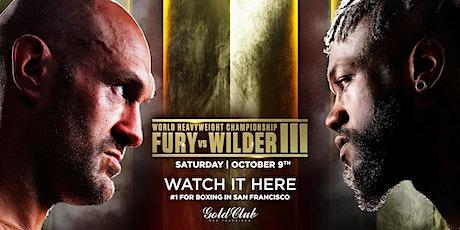 FURY vs WILDER III tickets
